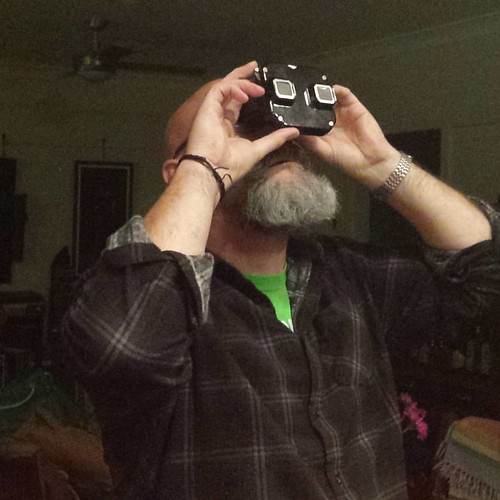 My intrepid #viewmaster collector.  Ah #winter evenings.  #Canberra #cbr