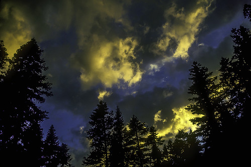 trees sunset sky color clouds skyscape scenic diamondlake craterlakenationalpark woodchuckiam