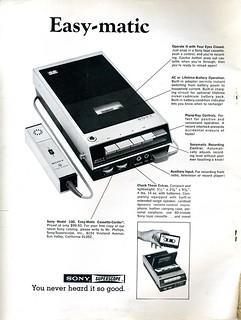Sony Model 100 Easy-Matic Cassette-Corder - 1969