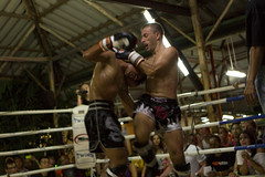 wrestler(0.0), amateur boxing(0.0), striking combat sports(1.0), professional boxing(1.0), contact sport(1.0), sports(1.0), combat sport(1.0), muay thai(1.0), shoot boxing(1.0), kickboxing(1.0), sanshou(1.0), punch(1.0), boxing(1.0),