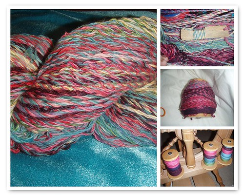 Scrappy Yarn Collage