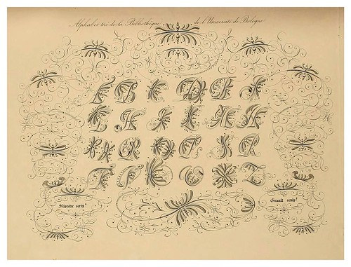 003-Alphabet-Album collection de soixante feuilles d'alphabets historiés 1843- Joseph-Balthazar Silvestre