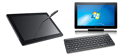 The Samsung SLATE PC Series 7 can be used as a tablet or be used as a desktop.