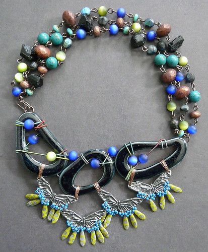 Porcelain and a Ton O Beads Necklace