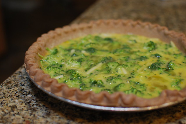 Quiche recipe on blog