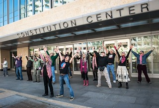 Flash mob at FHFA