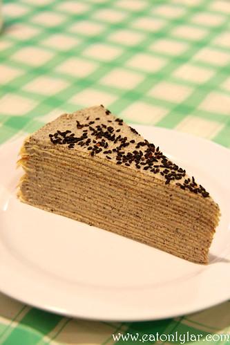 Black Sesame Mille Crêpe, Indulge Café