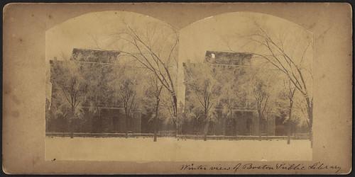 Winter view of Boston Public Library