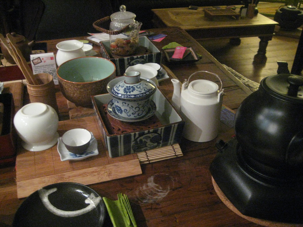 Table set for tea - Teanamu Chaya Teahouse