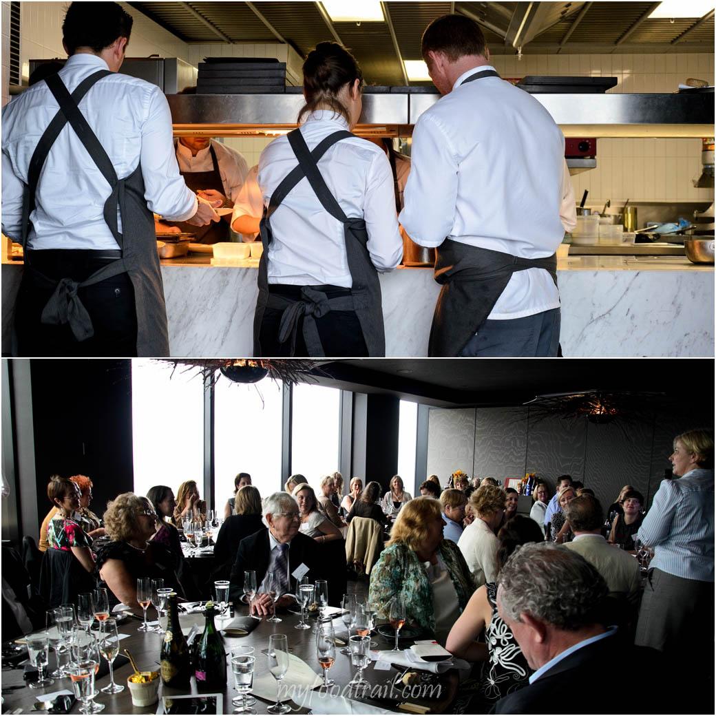 CJ Vue De Monde Lunch - Waiters, guests