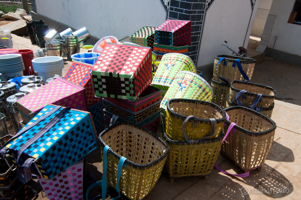 Baskets in Shaxi market