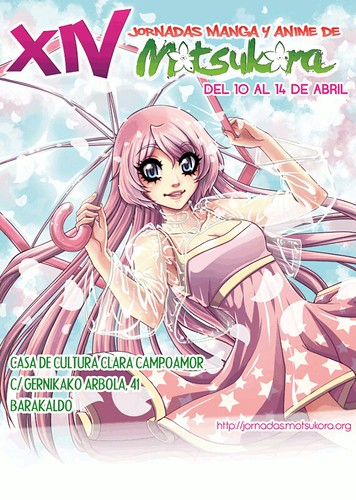 cartel ganador  XIV Jornadas Manga y Anime Motsukora en Barakaldo