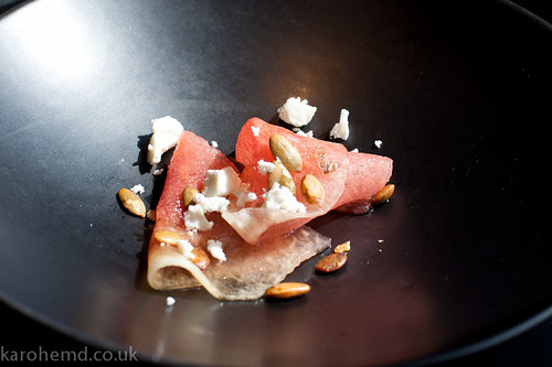 Watermelon, Feta, fried pumpkin seeds