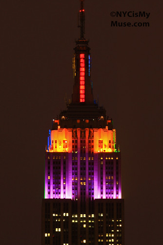 Empire State Building in Tie Dye Colors for Bob Weir, Phil Lesh and Furthur