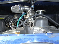 Engine of a Fiat 500