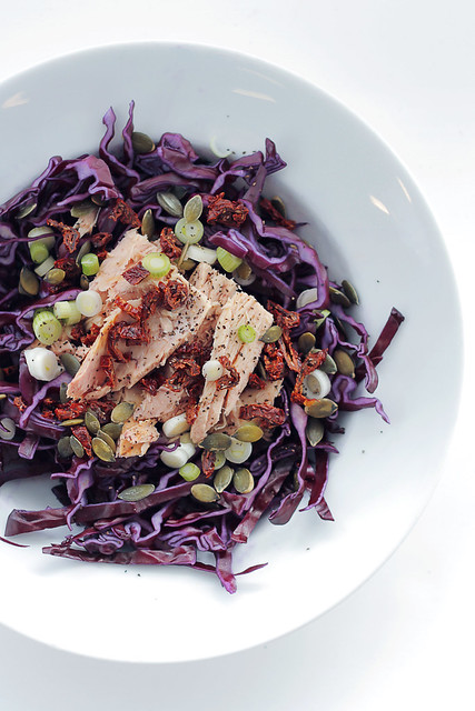 Red Cabbage, Tuna and Sundried Tomatoes