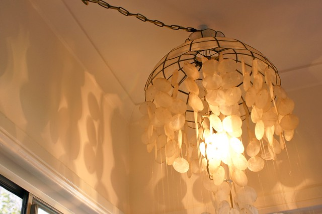 Capiz Chandelier - top lit