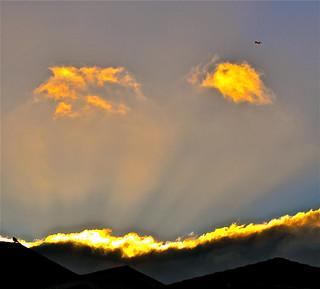 Crepuscular Rays of Sun Set