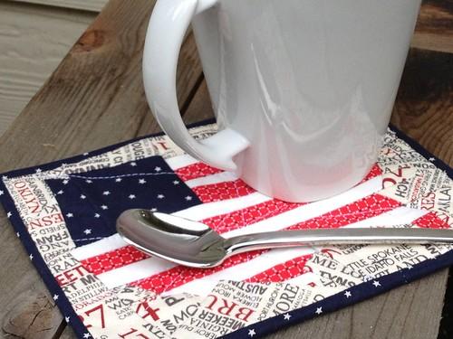 4th July Mug Rug