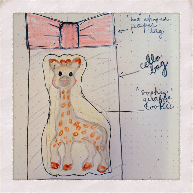 Giraffe Cookie Sketch