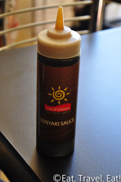 California Teriyaki Grill- University Town Center, Irvine, California: Teriyaki Sauce