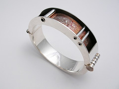 01 hollow mokume bracelet