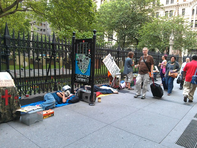 Occupy Wall Street sleep-in at Trinity Church