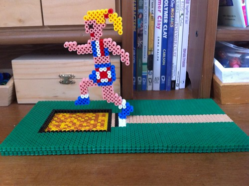 Hama Bead 3D Long Jump Athlete