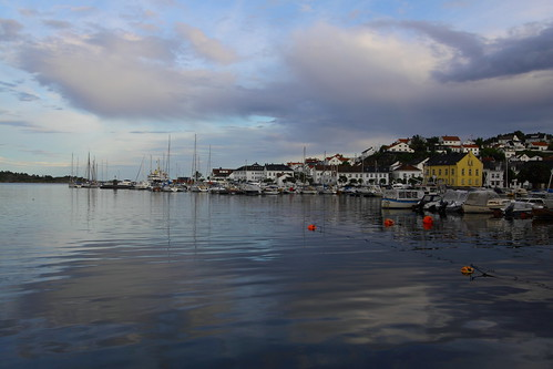 ocean sea sky cloud water clouds port boats boat town harbour risør buoy