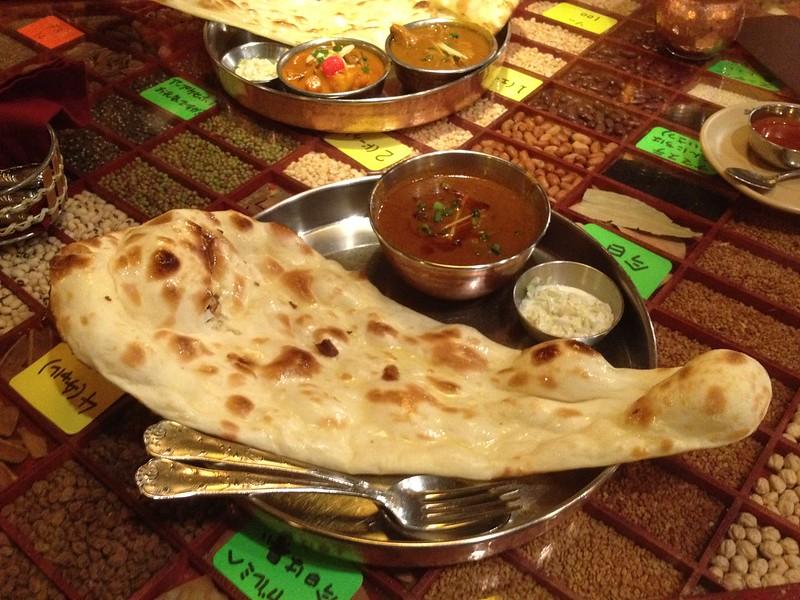 インド料理のお店でお昼ごはん
