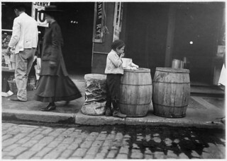 Patching up a meal. Boston, Mass, October 1909