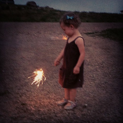 July. Baby's first sparkler.