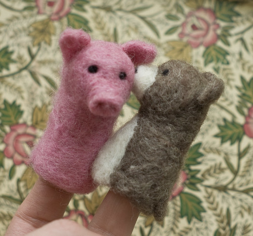 Needle Felted Finger Puppets