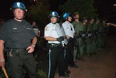 US Park police in full riot gear