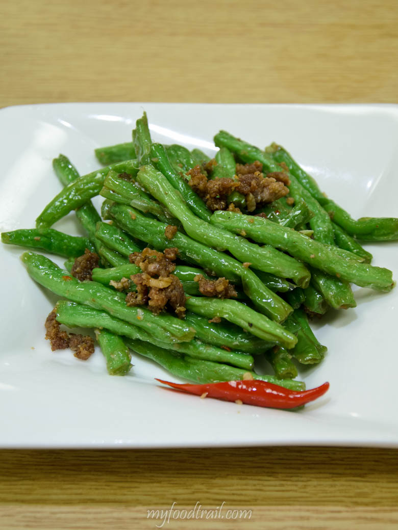 Din Tai Fung, Taiwan - Green beans with minced pork