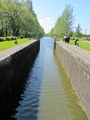 looking down the canal - Photo of Langouet