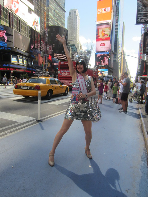 Priscilla, Queen of the Desert the musical promotional model in Times Square New York City USA