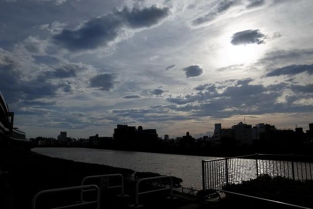 sky, river, summer