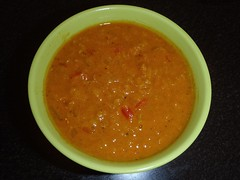 Orange chili-/linsesuppe
