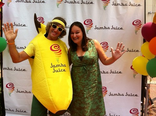 Me and the Jamba Juice Banana Man
