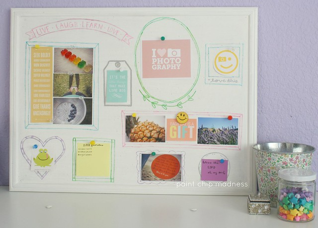 diy cork pinboard tutorial