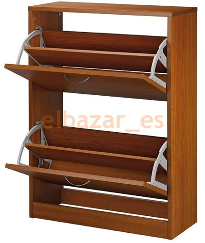 Zapatero madera organizador zapatos 2 trampones 10 13 for Disenos de zapateras de madera