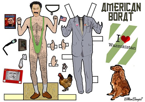 AMERICAN BORAT CUTOUT by Colonel Flick