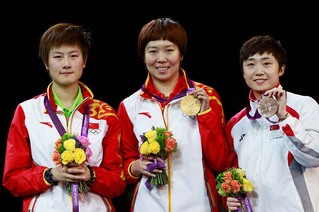 """""""Team China"""" sweeps table tennis women's singles  medal"""