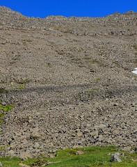 steep slope & loose rocks