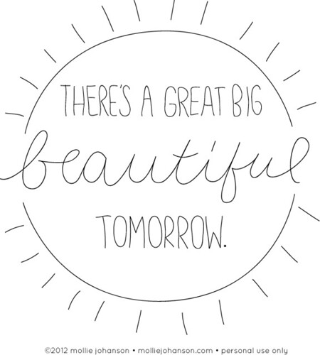 There's a Great Big Beautiful Tomorrow