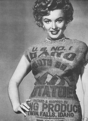 Marilyn Monroe in a Potato Sack Dress