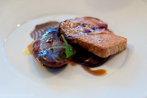 Wood pigeon, liver on toast