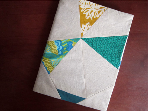 Wonky Pinwheel covered journal