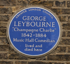 Photo of George Leybourne blue plaque